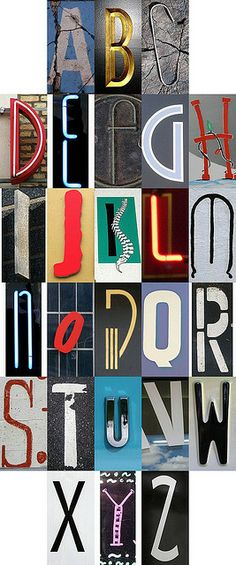 Alphabet - Skinny letters by Tom Magliery Graphic Design Typography, Lettering Design, Sign Design, Alphabet Photography, Letter Form, Hand Drawn Lettering, Diy Art Projects, Alphabet Art, Typography Letters