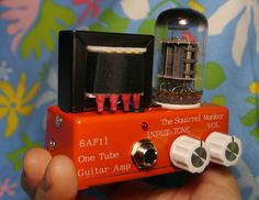 超小型フルチューブギターアンプヘッド自作 The Squirrel Monkey One Tube Guitar Amp - micro guitar amp head