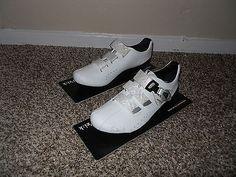 New Women's Fizik R3 Donna SPD-SL Cycling Carbon Shoes Road Sz 7 White $300