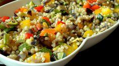 Σαλάτα με πλιγούρι και ψητά λαχανικά