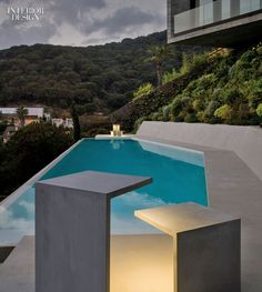 30 Products that Will Make Your Outdoor Escapades More Enjoyable | Empty LED lamps in polymer concrete by Vibia. #interiordesignmagazine #design #interiordesign #products #lighting