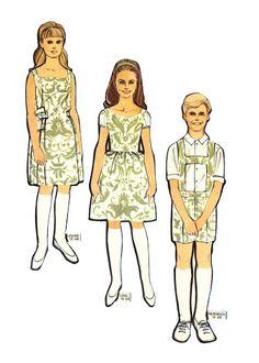 Sound of Music  Three of the seven von Trapp children Paper dolls