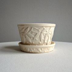 Vintage McCoy Pottery Flower Pot  Cream by BarkingSandsVintage, $27.00