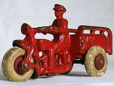 Antique Hubley cast iron toys. Hubley made a wide variety of cast iron toys that are now collectible.