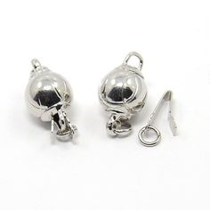 5sets Platinum Plated Bead Box Clasps Ball 15mm Watermelon Clasps Jewelry Making #Unbranded