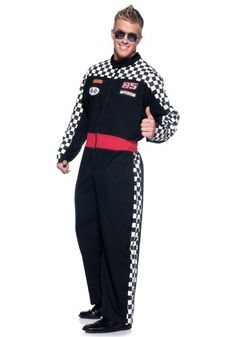 Mens Plus Race Car Driver Costume $46 http://www.halloweencostumes.com/mens-plus-race-car-driver-costume.html