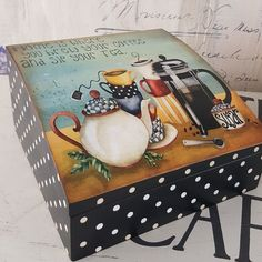 Ece Aymer Craft House Ankara (@eceaymercrafthouseankara)   Instagram photos and videos Dyi Crafts, Wooden Crafts, Home Crafts, Diy Home Decor, Paper Napkins For Decoupage, Decoupage Paper, Painted Boxes, Wooden Boxes, Tole Painting
