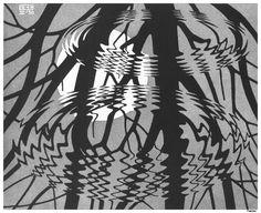 Regular Division of The Plane V - M.C. Escher - WikiPaintings.org
