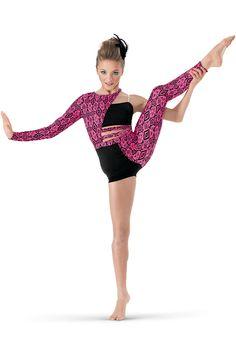 624da611af9b9 Weissman™ | Asymmetrical Tribal Print Unitard Jazz Dance Costumes, Ballet  Costumes, Lyrical Costumes
