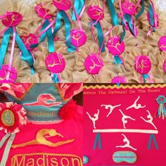 Custom gymnastics party package by Shawna Brockmeier