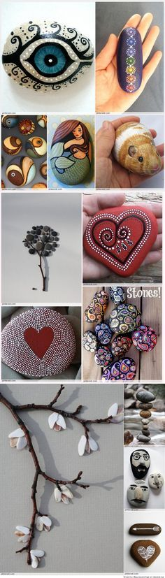 Painted Rocks Ideas Archives – Page 5 of 21 – Budget Crafting - Stone Stone Crafts, Rock Crafts, Fun Crafts, Diy And Crafts, Crafts For Kids, Arts And Crafts, Homemade Crafts, Pebble Painting, Pebble Art