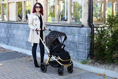 The Infababy PRIMO i-Size travel system in Gold colour is ultra-modern, ultra sleek and lightweight. Some of the features of this travel system include the ability to fold the stroller with the seat unit installed. Gold Colour, Color, Car Boot, Changing Bag, Travel System, My Size, Baby Strollers, Car Seats, The Unit