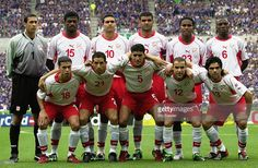 Tunisia team group taken before the FIFA World Cup Finals 2002 Group H match between Japan and Tunisia played at the Osaka-Nagai Stadium, in Osaka, Japan on June 14, 2002. Japan won the match 2-0. DIGITAL