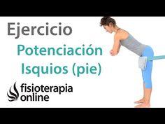 Ejercicio de potenciación excentrica para isquiotibiales (en pie) - YouTube