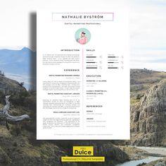 CV Template  Résumé Template for Word  Cover Letter  by introDuice