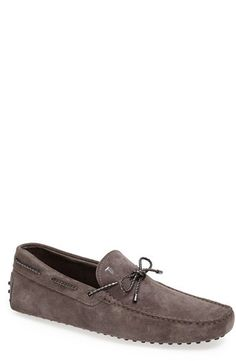 9d7070c1e34 Tod's 'Laccetto' Driving Shoe (Men), Soft suede forms a lightweight driving  shoe laced with braided leather for a touch of texture.