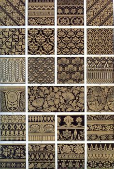 Owen Jones. Indian Decoration from The Grammar of Ornament, 1856 (note to self: no. 14) — The Textile Blog