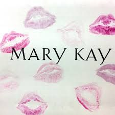 Lipstick design with Mary Kay logo.