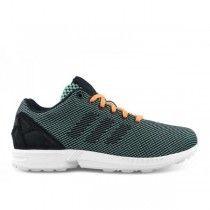 Chaussures Adidas ZX Flux Homme Weave Vert Noir Et Blanc Orange Pas Cher A593 H0Me - 72,51 €