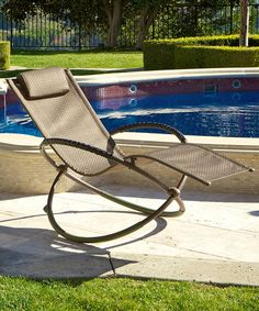 Red Star Traders Brown Luis Zero Gravity Lounge Chair by Outdoor Entertaining: Patio Furniture