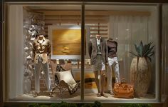 Ralph Lauren Stores Earth tones and rich textures warm the windows of East Hampton's Luxury Store