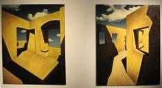 """Filip Kalkowski """"Życie jest gdzie indziej"""" Wolny Związek Zawodowy / Joanna Rusinek i Filip Kalkowski - wystawa w Państwowej Galerii Sztuki w Sopocie (29.9.-12.11.2017) #pgssopot #exhibition #painting #filipkalkowski #sopot #artgallery fot. sopot.fotobank.pl"""