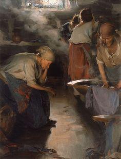 poboh:  Washer Women,  1890's, Abram Arkhipov. Russian (1862 - 1930)