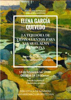 14/02/2017. VOCES ANCESTRALES. La tejedora de vidas. Conferencia de Elena García Quevedo. Elena García Quevedo-ren hitzaldia.