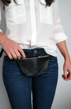 This stylish waist bag is crafted with high quality pebbled Italian leather. It is perfectly sized to keep your everyday essentials, ideal for weekend shopping trips, night hours in the club and jogging too.  * Highest quality Italian leather * One main compartment with a zip closure (YKK zipper) * Unlined * Adjustable belt strap  Dimensions: Height: 4.7 12 cm Width: 8 20 cm Depth: 1 2,5 cm Belt strap: max 40 100 cm  Color may vary depending upon monitor…