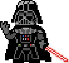 Pixel Art Star Wars Dark Vador Facile