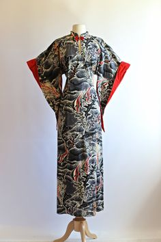 RESERVED / Vintage 40s Pake Muu Hawaiian Dress by xtabayvintage