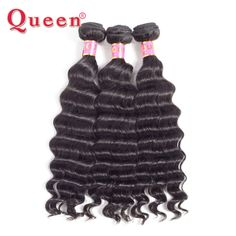 Loose Deep Peruvian Hair Bundles Queen Hair Products 1 Bundle Natural Color More Wave 100% Remy Human Hair Weave 10-28Inch