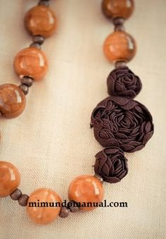 Mimundomanual: Rosas decorativas para collares de moda