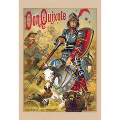 Don Quixote (Miguel de Cervantes) - Canvas Wall Art Prints - Gallery Wrap Canvas World Literature, Classic Literature, Classic Books, Man Of La Mancha, Theater, Dom Quixote, Great Books, Find Art, Wrapped Canvas