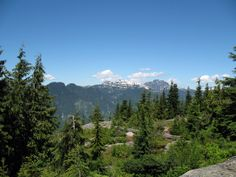 View of the surrounding mountains from Dog Mountain, North Vancouver