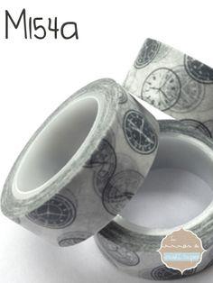 Washi Tape Relojes grises