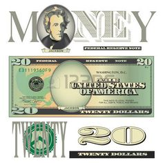 Miscellaneous Twenty Dollar Bill Elements Royalty Free Cliparts, Vectors, And Stock Illustration. Image 35843325.