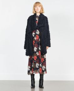 Image 1 of LONG FAUX FUR COAT from Zara