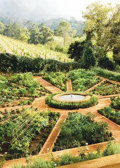 Avantgardens.  Mandala Garden in Constantia, Cape Town, South Africa.