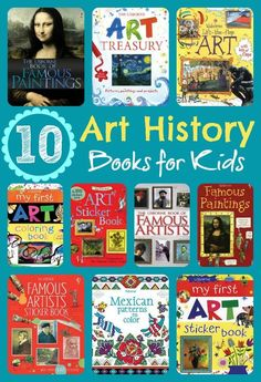 10 Usborne kids books for art history.