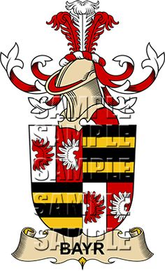 Bayr Family Crest apparel, Bayr Coat of Arms gifts