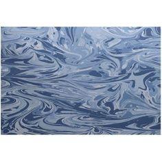 Simply Daisy 4' x 6' Mélange Geometric Print Indoor Rug, Blue
