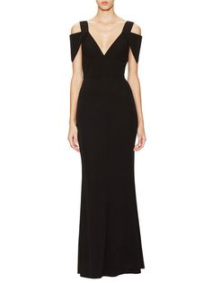 Triangle Sleeve Double-V Gown by ABS by Allen Schwartz at Gilt