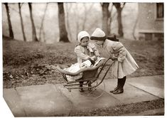 Lewis W. Hine Children playing with Campbell Kid dolls, New York City, March 1912 [via Shorpy]