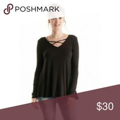Only one Small  and one Medium left !!! 96 percent Rayon, 4 percent Spandex. So soft and comfortable.  High quality basic that will never go out of style. These are all new. Flowy and comfy, looks so good on.  State which size you want and I will make listing for you. Boutique Tops Tees - Long Sleeve