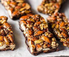 No-Bake Granola Bars with Maple-Sweetened Dark Chocolate