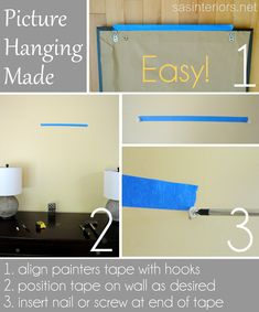 Best TIP ever to hang a picture! ohh where was this when i was hanging new stuff!