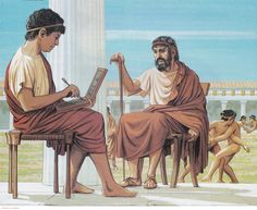 A Greek School in Ancient Athens. (Peter Connolly/Athenian Education/user: Aethon)