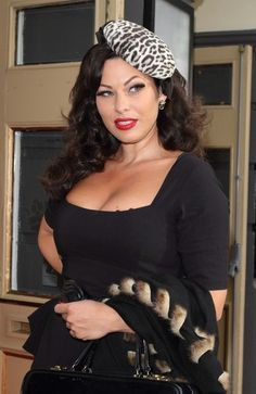 Immodesty Blaize Stunning wearing Chelsea Pencil Dress in Black.     £89.00