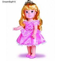 Aurora My First Princess Doll Tiara Pink Costume Beautiful Fourteen Inch  #MyFirstPrincess
